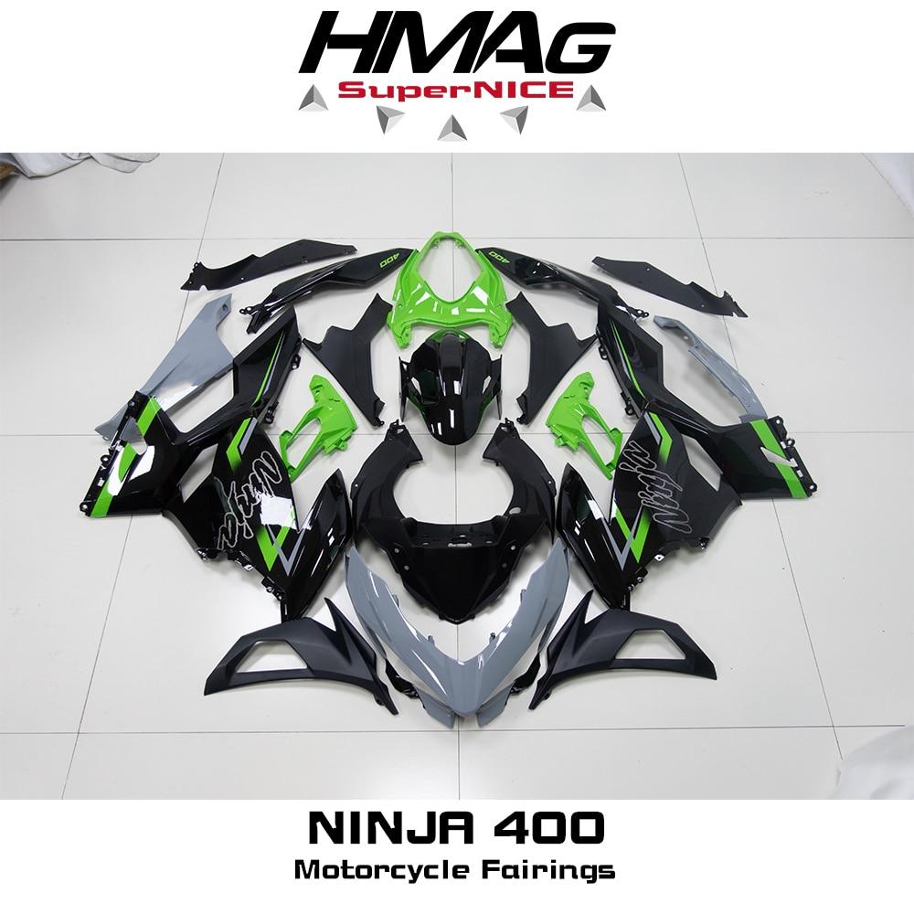 High Quality New ABS Injection Plastics Full Fairings Kit For Ninja400 Ninja 400 ZX-4R 2018 2019 2020 Bodywork Set Dark Green