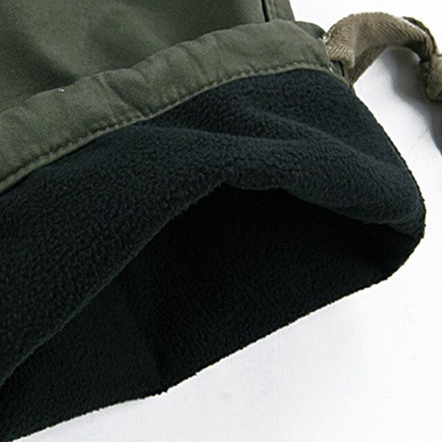 Mens Winter Pants Thick Warm Cargo Pants Casual Fleece Pockets Fur Trouser Plus Size 38 40 Fashion Loose Baggy Joger Worker Male 6
