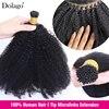 Afro perwersyjne kręcone ludzkie włosy 4C I końcówki mikrolinki brazylijskie węzły naturalne dopinki włosów