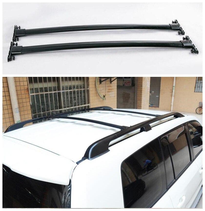 Alüminyum alaşım araba çatı rafları bagaj rafı Crossbar uyar Toyota Land cruiser Prado için FJ120 LC120 2003 2004 2005 2006 2007 2008