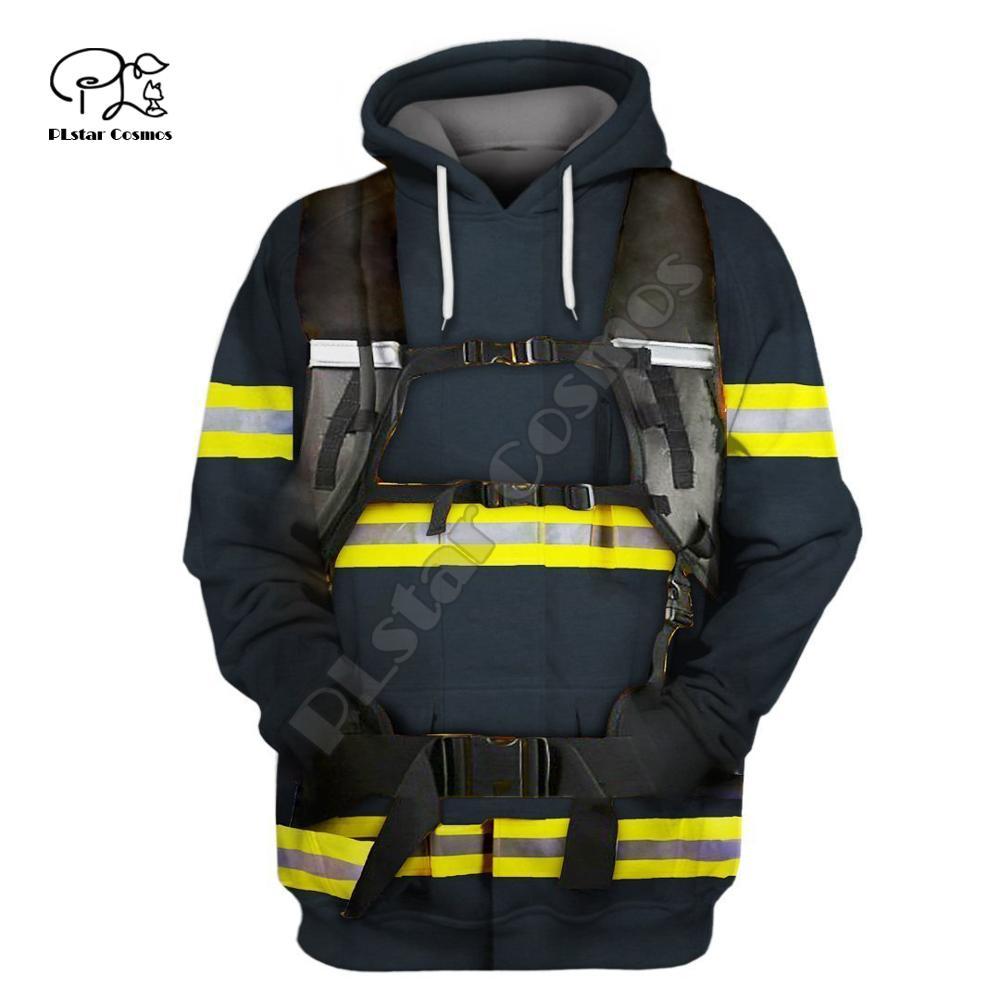 Firefighter Suit 3D Print Hoodies Fireman  3D Hoodie  Men Women New Fashion Hooded Sweatshirt Long Sleeve Pullover Style-3