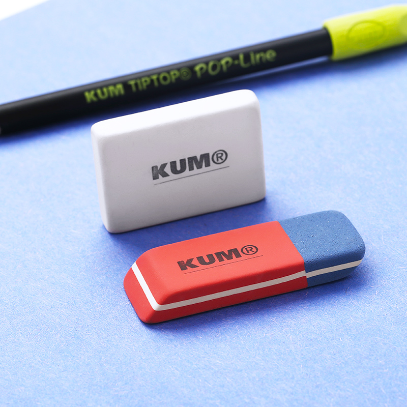 2pcs Germany Imported KUM Highlight Painting Sketch Art Eraser Suitable For Pencil Ball-point Pens Scrub Rubber School Supply