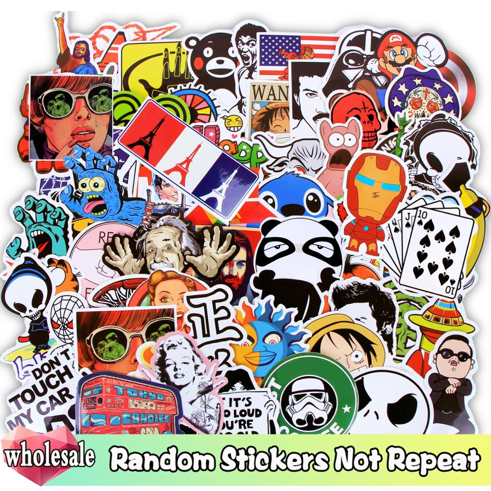 Wholesale Random Stickers 1000/500/300 Pcs/Lot JDM Cartoon Graffiti Mixed Sticker Not Repeat For Skateboard Luggage Guitar Toy