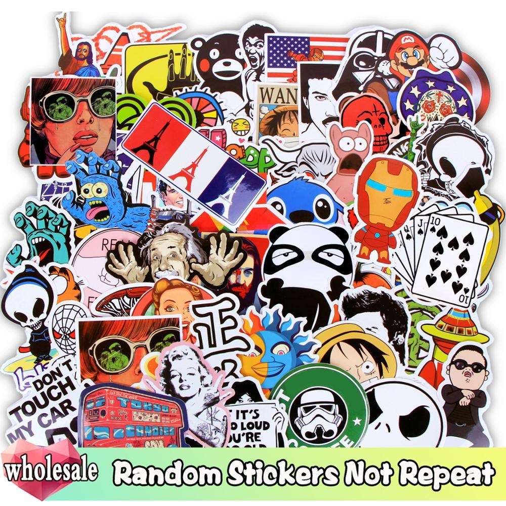 Оптовая продажа Случайных стикеров 1000/500/300 шт/Лот JDM стиле «граффити» из мультфильма; Смешанная наклейка не повторять для катания на скейтбо...