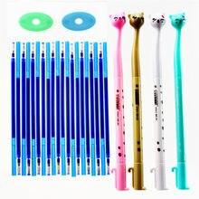 26 pcs/set Erasable Gel Pen Refills Rod 0.5mm Washable Handle Magic Erasable Pen for School Pen Writing Tools Kawaii Stationery