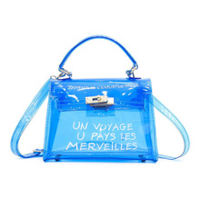 Women Clear Transparent Shoulder Bag PVC Cute Candy Color Jelly Bags