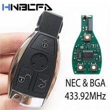 3 кнопки Smart Remote Key For Mercedes Benz Year 2000% 2B Поддерживает NEC% 26BGA Type Auto +fob с 433,92MHz заменяет NEC Chip