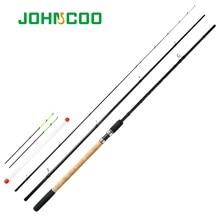 JOHNCOO Feder 40T Carbon Licht Gewicht Feeder Angelrute 3,6 m 3,9 m 3 Abschnitte Feeder mit 3 Verschiedenen tipps Test 90g 120g 150g