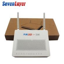 5 pçs segunda mão epon onu hs8145c 98% nova fibra óptica ftth epon ont com 1ge + 3fe wifi + usb voz sem adaptador GPON oNU