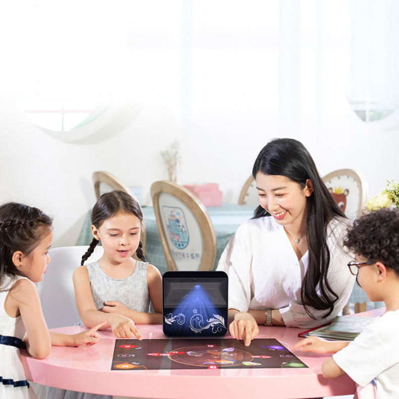 Interactive Touch Foil Transparent Touch Screen LED HD Touch Projector 100 Inch Maximum 4K Touch Projector With Wi-Fi Speaker