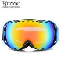 Bjmoto óculos de esqui lente dupla esqui neve snowboard óculos de proteção masculino
