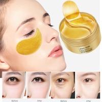 60Pcs Gold Kollagen Eye Patches Gesicht Anti Falten Gel Schlaf Maske Eye Patch Essenz Feuchtigkeits Augen Maske Entfernen Dark kreise