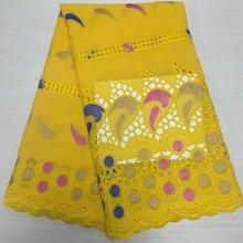 Новое поступление, африканская кружевная ткань, Высококачественная хлопковая кружевная ткань, новейшая нигерийская швейцарская вуаль кру...