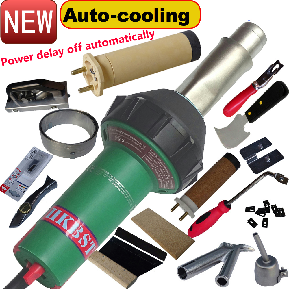 HKBST PVC Vinyl Floor Welder Kits And Tools  Include Hot Air Hand Welding Gun And Groovers,Trimming Skiving Knife ,etc