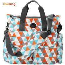 ChildKing Fashion Mummy Bag Waterproof Multi-Function Large Capacity Maternal and Infant Bag Women's Shoulder Bag Messenger