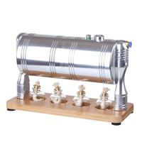 Full Metal High Quality Startable Retro Steam Engine Model Building Steam Stem Kit for Children Education Birthday Gift