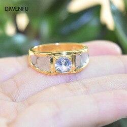 Soild 18K żółty złoty diament pierścienie dla mężczyzn 2021 moda biżuteria czysta Bizuteria kamień Anillos De obrączki dla luksusu