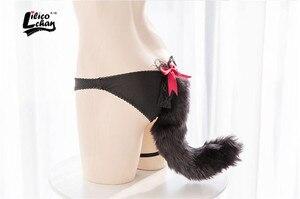 Image 5 - Gorros de algodón con cola de zorro Flexible para mujer, juguetes eróticos de castidad, ropa interior de entrepierna abierta, juguetes sexys para mujeres y adultos, Sex Shop