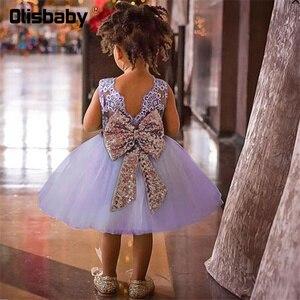 Кружевное платье с открытой спиной для девочек, летнее платье на крестины для младенцев, формальное платье для девочек, платье для крещения,...