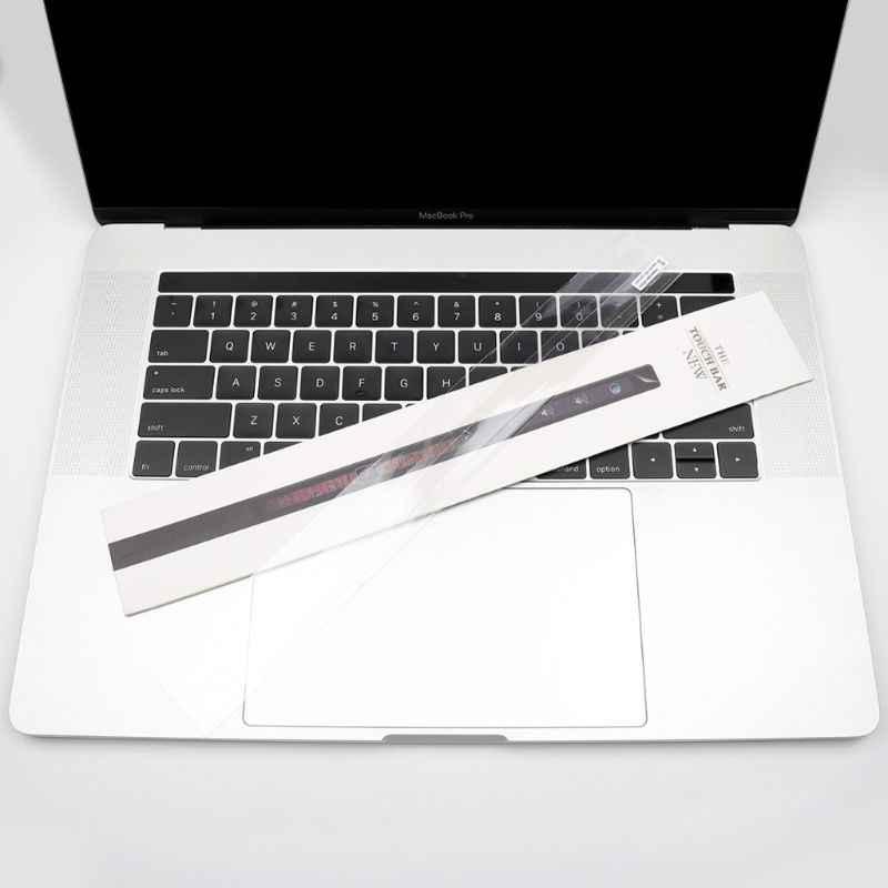 높은 투명 투명 필름 스킨 가드 수호자 스티커 맥북 프로 13 터치 바 a1706 15 a1707 touchbar id 스티커 2017