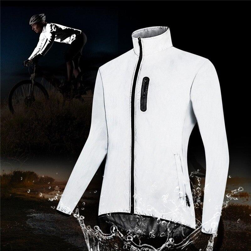 Chaqueta de ciclismo reflectante para hombre, resistente al viento, impermeable, ciclismo Carrera Nocturna, ropa reflectante, para bicicleta de montaña|Chaquetas de ciclismo| - AliExpress