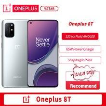 Orijinal Oneplus 8 T 8 T 5G SmartPhone 120Hz sıvı AMOLED ekran Snapdragon 865 65W çözgü şarj bir artı 8 T cep telefonu