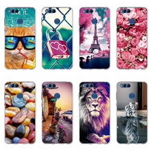 цена на Case For Huawei Honor 7X Case Soft Silicone TPU Back Cover For Fundas Honor 7x Cover Coque For Huawei Honor 7X Phone bags Cases