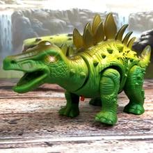 Удивительный Спрей Электрический динозавр игрушка ходячий спрей светодиодный светильник звук динозавр игрушка динозавр модель Мальчик День рождения Рождество