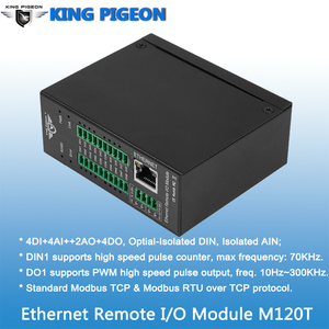 Image 2 - Modbus Tcp Ethernet Remote Io Module Voor Veldbus Automatisering Ingebouwde Watchdog Ondersteunt Register Mapping M120T