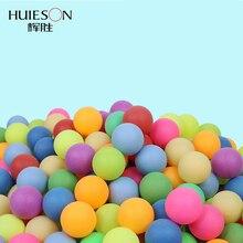 Одна упаковка цветных мячей для пинг-понга 40 мм 2,4 г мячи для настольного тенниса смешанные цвета для игры и активности разноцветные