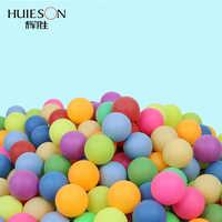 Um bloco colorido bolas de tênis de mesa do entretenimento 40mm 2.4g do pong do ping cores misturadas para a cor da mistura do jogo e da atividade