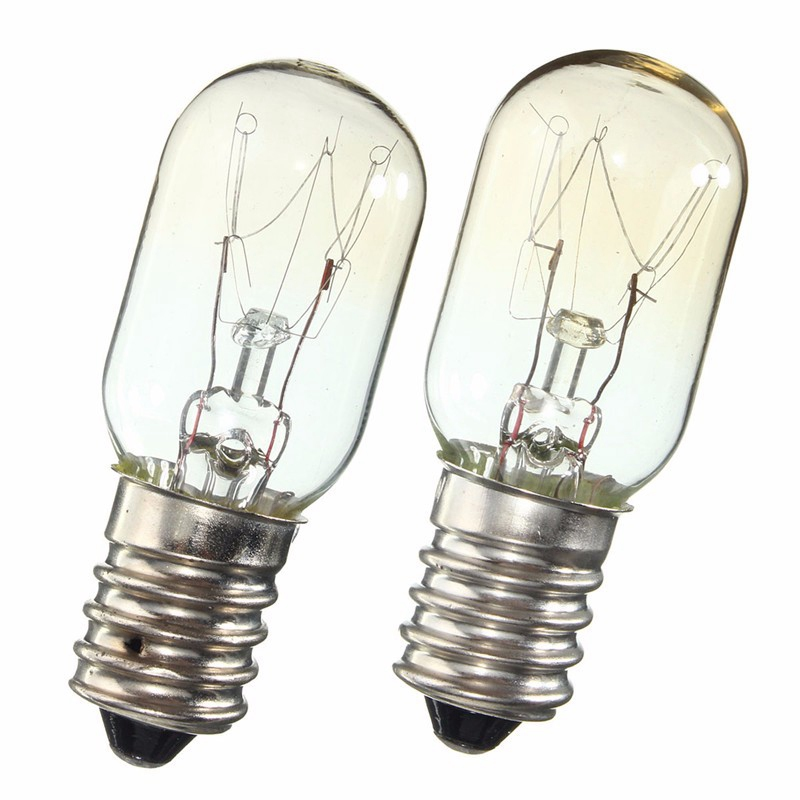 AC 220-230V Edison Bulb E14 SES 15W/25W Refrigerator Fridge Light Bulb Tungsten Filament Lamp Bulbs Warm White Ligthing
