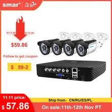 Smar CCTV 4CH 720P/1080P kamera AHD zestaw P2P HDMI H. 264 DVR System monitoringu wizyjnego wodoodporna zewnętrzna kamera bezpieczeństwa zestaw