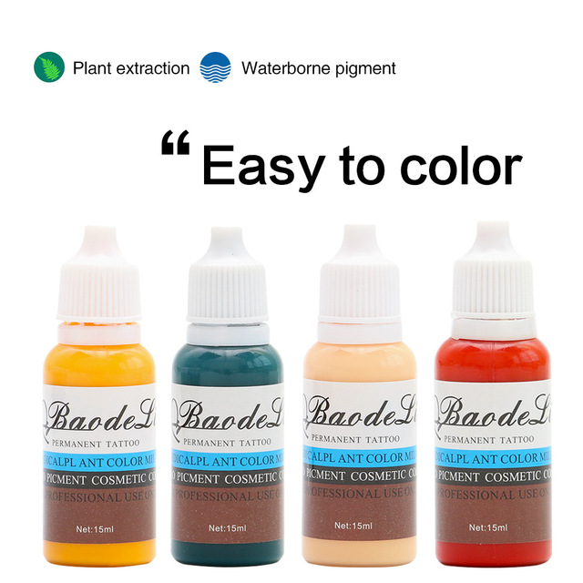 23 Colors Tattoo Pigment ink Eyebrow Lip Eyeline Pigment Coloring Cream Ink For Semi Permanent Body Paint Makeup Tool 2