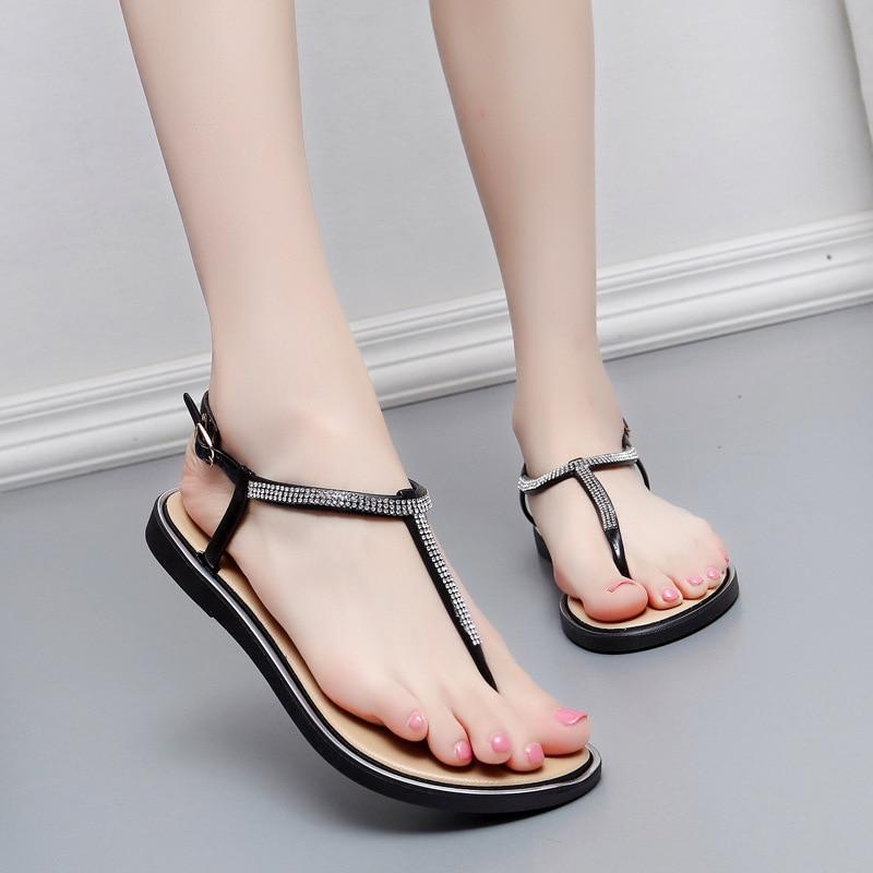 Bling Rhinestone Women Slippers Summer Beach Slides Bling Shine Home Slippers Sandals Women Shoes Ladies Flip Flops Zapatillas
