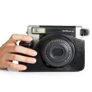 Image 5 - Fujifilm Instax Wide 300 funda para cámara instantánea, bolsa de transporte de cuero PU de calidad, 5 colores Rosa, marrón y negro