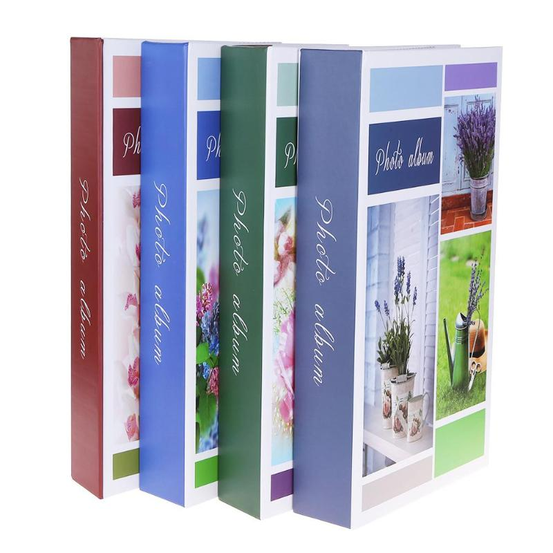 300 Sheets 4R/6 Inch Interleaf Type Family Photo Album Pictures Scrapbook Family Baby Memory Book Wedding Decoration Random Send