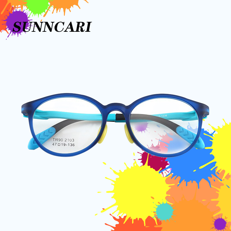 Children Anti-blue Light Glasses Elastic Leg Myopia Eyeglass Frame Optical Silicone Baby's Eyewear Frame Boys Girls TR90  Frame