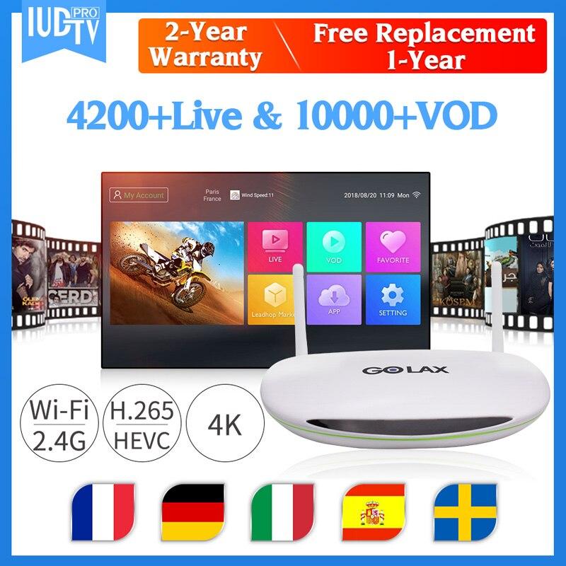 GOLAX-M1 IUDPRO suède IPTV français Box Android 7.1 4K H.265 avec 1 an d'abonnement IPTV finlande allemagne IPTV France IP TV Box