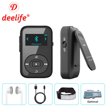 Deelife reproductor de MP3 con Bluetooth, dispositivo Mini deportivo con Clip, 8GB, música HiFi, MP, 3 jugadores