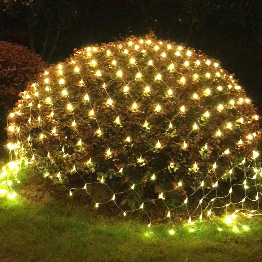 Thrisdar Christmas LED String Light 8 Modes Outdoor Garden Tree-wrap Net Mesh Lights Wedding Party Backdrop String Garland Light