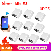 Sonoff Mini R2 Two Way Smart Switch Wifi Wireless DIY Timer Switch Smart Home Automation Module ewelink app Work with Alexa