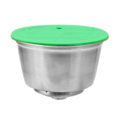 Łatwy w użyciu filtr do kawy ze stali nierdzewnej kapsuła do kawy wielokrotnego użytku do kapsułek wielokrotnego napełniania Dolce Gusto do kawy Nespresso w Filtry do kawy od Dom i ogród na