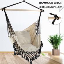 130 x100 x100cm Nordic style Home Garden Hanging Hammock Chair Outdoor Indoor Dormitory Swing Hanging Chair with Wooden Rod