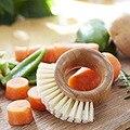 Кольцо бамбуковая щетка для чистки овощей пальмовый горшок щетка-мини щетка для посуды натуральная щетка для скраба прочный комплект для ч...
