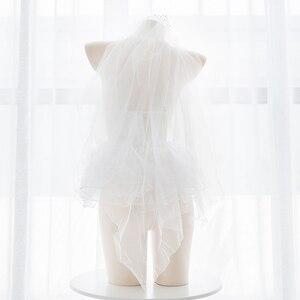 Image 4 - الملاك الباليه فتاة الدانتيل انظر من خلال الملابس الداخلية مجموعة مثير لوليتا Cospaly الزفاف قصيرة اللباس مجموعة شبكة مجموعة الملابس الداخلية ملابس غريبة