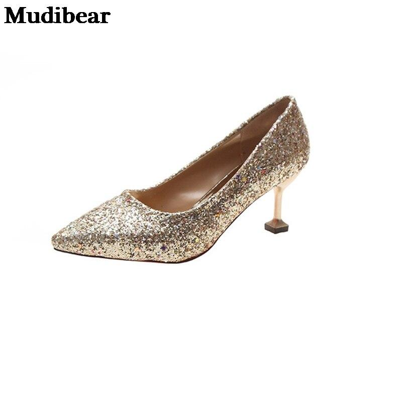 Купить туфли mudibear женские на высоком каблуке пикантные свадебные
