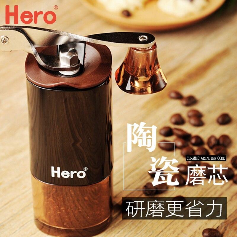 Кофемолка эспрессо герой кофемолка ручная кофемолка Домашняя мини ручная шлифовальная машина керамический шлифовальный сердечник моющий...