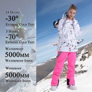 Image 3 - SMN Ski Suit Adult Women Winter Waterproof Breathable Warm Snowboard Jacket Bibs Pants Wind Resistant Outdoor Snowboard Suit