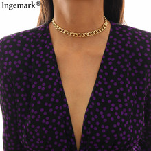 High Quality Cuba Chunky Choker Necklace Women Collar Statement Gothic Punk Snake Thick Chain Necklace Brand Designer Jewelry(China)
